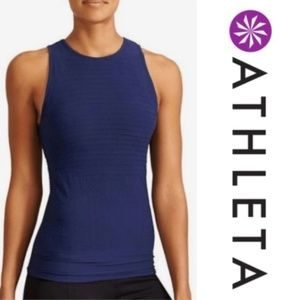 Athleta x Derek Lam Blue Union Seamless Tank